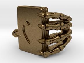 Poker ring in Natural Bronze: 10.5 / 62.75