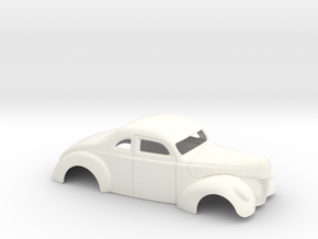 1/25 1940 Ford Coupe 3 Inch Chop in White Processed Versatile Plastic