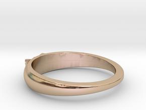 Ø0.699 inch/Ø17.75 Mm Japanese Sunrise Ring in 14k Rose Gold Plated Brass
