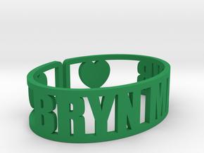 Bryn Mawr Cuff in Green Processed Versatile Plastic