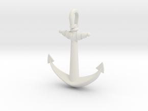 Anchor V2 (Big) in White Natural Versatile Plastic