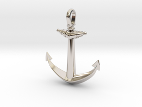Anchor V2 (Big) in Rhodium Plated Brass