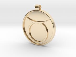 Zodiac KeyChain Medallion-TAURUS in 14k Gold Plated Brass