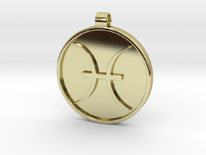 Zodiac KeyChain Medallion-PISCES in 18k Gold