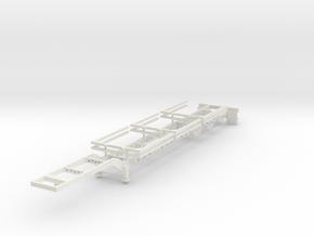 000099 USA Wood Looger Trailer HO 1:87 in White Natural Versatile Plastic: 1:87 - HO