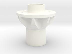 Alcoa 1.9 24mm wide 8 lug rear hex hub in White Processed Versatile Plastic