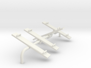 Playground Teeter Toter - HO 87:1 Scale in White Natural Versatile Plastic