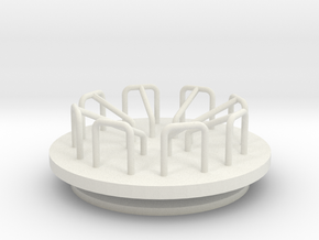Playground Merry-Go-Round - HO 87:1 Scale in White Strong & Flexible