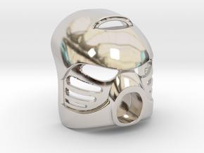 Hau in Rhodium Plated Brass