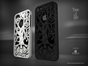 "Iphone 5, 5S case ""Tree of life"" in White Natural Versatile Plastic"