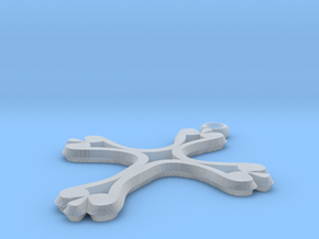 Cross Pendant of Hope in Smooth Fine Detail Plastic