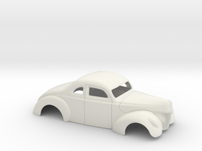 1/16 1940 Ford Coupe 2 Inch Chop in White Natural Versatile Plastic