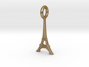 Eiffel Tower, Paris, France Charm in Polished Gold Steel