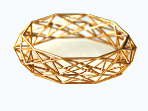 "Geometric bracelet ""Constructionist"" in Polished Brass"