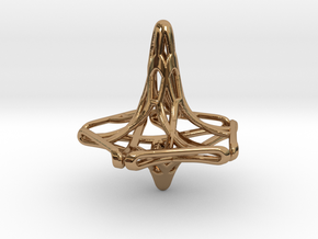 Penta-Fractal Spinning Top in Polished Brass