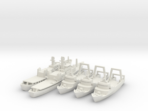 Cod War Set 2 1:700/600 in White Natural Versatile Plastic: 1:700