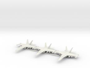 F-18C 1/210 x3 in White Natural Versatile Plastic