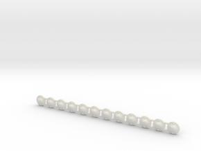 Flag pole bracket 01.  1:64 Scale in White Natural Versatile Plastic