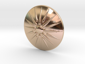 Sun of Vergina Belt Buckle, Simplified Center in 14k Rose Gold