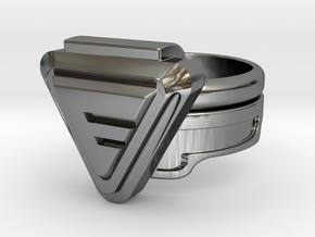 Doctor Evil Ring 16.30mm 5 3/4 No medical symbol in Fine Detail Polished Silver