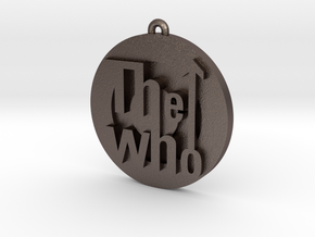 The Who Logo in Polished Bronzed Silver Steel