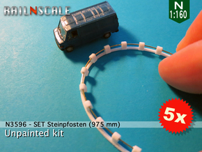 SET Steinpfosten (N 1:160) in White Natural Versatile Plastic