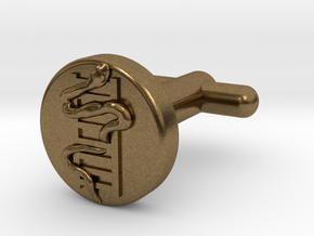 Snakes And Ladders Cufflinks in Natural Bronze