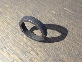 Aperture Ring in Polished and Bronzed Black Steel