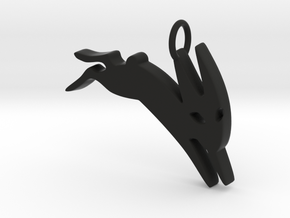 Black Rabbit of Inle in Black Natural Versatile Plastic