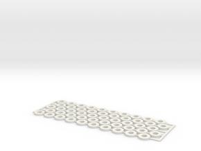 Stringer Spacers in White Natural Versatile Plastic