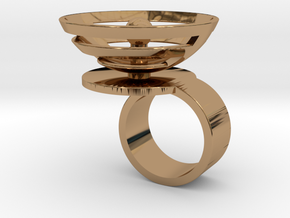 Orbit: US SIZE 4  in Polished Brass