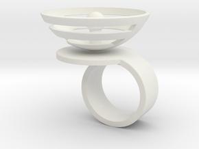 Orbit: US SIZE 4  in White Natural Versatile Plastic