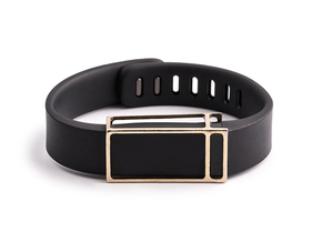 James slide for Fitbit Flex in Natural Brass