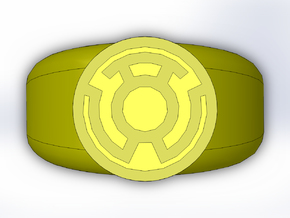 Yellow Lantern Ring in Full Color Sandstone