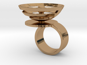 Orbit: US SIZE 5.5 in Polished Brass
