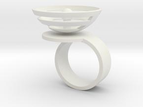 Orbit: US SIZE 8 in White Natural Versatile Plastic