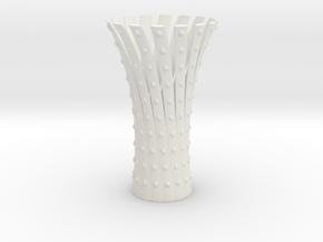 Vase Chinese Spiral in White Natural Versatile Plastic