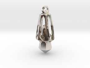 CrystalMind - Metallic Crystal in Rhodium Plated Brass