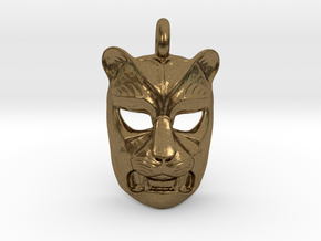 Leopard kabuki-style Pendant in Natural Bronze