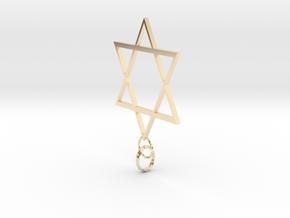 Star Of David in 14k Gold Plated Brass