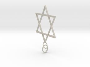 Star Of David in Natural Sandstone