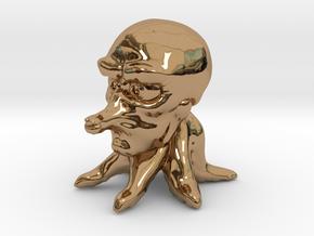 Cute Tako in Polished Brass