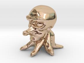 Cute Tako in 14k Rose Gold Plated Brass