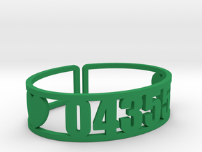Laurel Zip Cuff in Green Strong & Flexible Polished