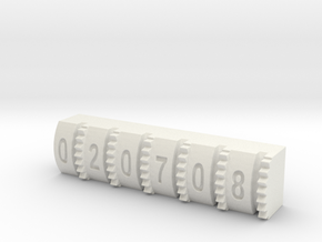 Hengstler Counter Number Roller #'s 020708 in White Natural Versatile Plastic