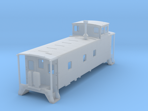 HO scale DRGW 01400 series caboose rebuilt in Smooth Fine Detail Plastic