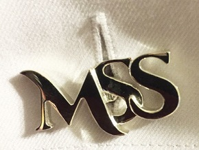 Monogram Cufflinks MSS in Polished Silver