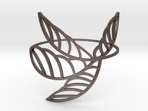 Palm_I in Polished Bronzed Silver Steel