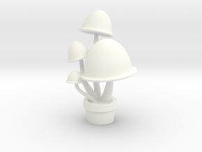 Mushroom Pendant in White Processed Versatile Plastic