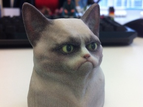 Grumpy Cat Bust in Full Color Sandstone